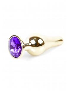 Jewellery Gold Butt Plug biżuteryjny korek analny z kryształem