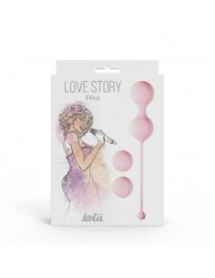 Love Story Diva zestaw kulek gejszy do ćwiczeń mięśni Kegla