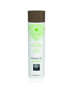 Massage Oil Stimulation Lotus & Coconut stymulujący olejek do masażu o zapachu lotosu i...