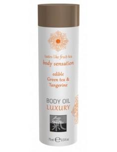 Massage Oil Green tea & Tangerine olejek do masażu o zapachu zielonej herbaty 75ml