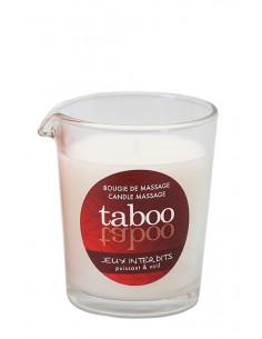 Taboo Jeux Interdist świeca do masażu ciała o zapachu naturalnym zapachu dzikiego porostu