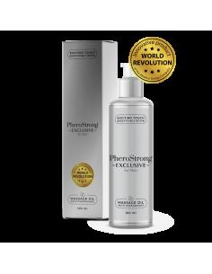 PheroStrong Exclusive olejek do masażu mężczyzn z feromonami podniecającymi kobiety 100 ml