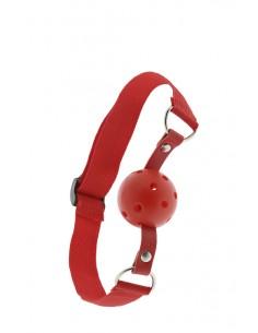 Breathable Ball Gag knebel erotyczny z kulką z dziurkami