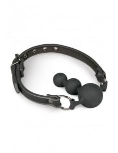 Ball Gag With Silicone Beads knebel erotyczny ze stożkowym ustnikiem