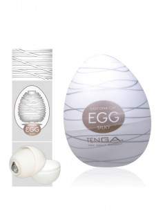 Masturbator jajko Tenga Egg Silky jednorazowy