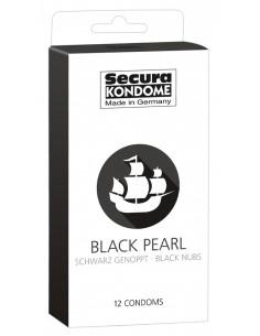 Secura Black Pearl prezerwatywy z perforowaną powłoką do stymulacji 12 szt.
